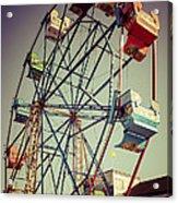 Newport Beach Ferris Wheel In Balboa Fun Zone Photo Acrylic Print by Paul Velgos