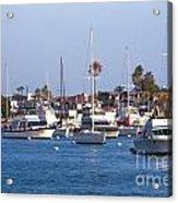 Newport Beach Harbor Acrylic Print