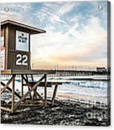 Newport Beach Pier And Lifeguard Tower 22 Photo Acrylic Print