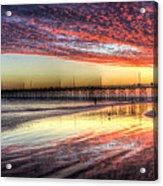 Newport Beach Pier Sunset Acrylic Print