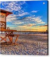Newport Beach Pier - Wintertime  Acrylic Print by Jim Carrell
