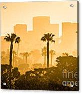 Newport Beach Skyline Morning Sunrise Picture Acrylic Print by Paul Velgos