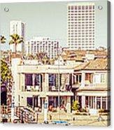 Newport Beach Skyline Vintage Panorama Acrylic Print