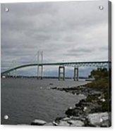 Newport Bridge  -  Rhode Island Acrylic Print