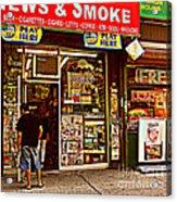 News And Smoke - Play Here Acrylic Print