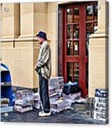 Newspaper Seller Acrylic Print