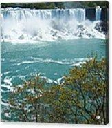 Niagara - American Falls In Spring Acrylic Print