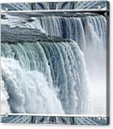 Niagara Falls American Side Closeup With Warp Frame Acrylic Print