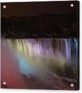 Niagara Falls At Night Acrylic Print