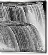 Niagara Falls Closeup Box Camera Effect Acrylic Print