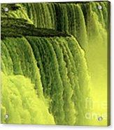 Niagara Falls Closeup Hot Wax Effect Acrylic Print