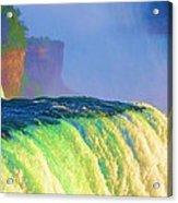 Niagara Falls In Abstract Acrylic Print
