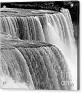 Niagara Falls In Black And White Acrylic Print