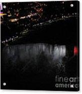 Niagara Falls Nightly Illumination Aerial View Acrylic Print