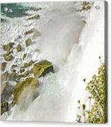 Niagara Falls On The Rocks Acrylic Print