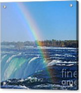 Niagara Falls Rainbow Acrylic Print