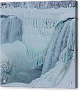 Niagara Falls Usa In Winter Acrylic Print