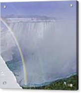 Niagara Falls With Winter Rainbow Acrylic Print
