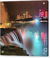 Niagara Starbust Skyline Panorama Acrylic Print