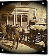 Niagra Carting Wagon Extras The Great White Hope Set Globe Arizona 1969-2014 Acrylic Print