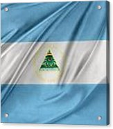 Nicaraguan Flag Acrylic Print by Les Cunliffe