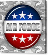 Nice Air Force Shield 2 Acrylic Print by Pamela Johnson