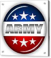 Nice Army Shield Acrylic Print by Pamela Johnson