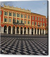 Nice France - The Cheerful Colors Of Place Massena Acrylic Print