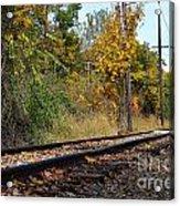Nickel Plate Train Tracks Acrylic Print