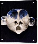 Nico Cobalt Mask Acrylic Print by Mark M  Mellon