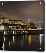 Night At Fairmount Waterworks And The Philadelphia Art Museum Acrylic Print
