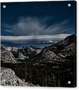 Night At Olmstead Point Acrylic Print by Cat Connor