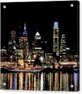 Night At Penn's Landing - Philadelphia Acrylic Print