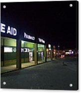 Night At The Strip Mall Acrylic Print