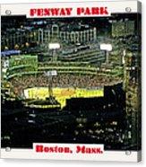 Night Baseball Fenway Park Boston Massachusetts Acrylic Print