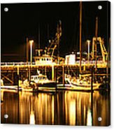 Night Boats Acrylic Print by Melisa Meyers