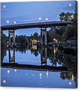 Night Bridge Acrylic Print