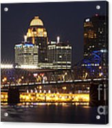 Night Descends Over Louisville City Acrylic Print