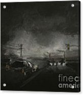Night Driving - Stanhope Parkway Acrylic Print