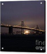 Night Falls On San Francisco Acrylic Print