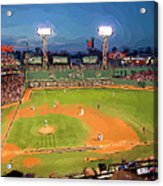 Night Fenway Pop Acrylic Print