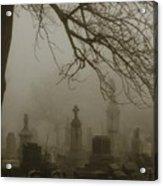 Dark Rolling Night Fog Acrylic Print
