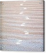 Night Beach Sand Footprints Acrylic Print