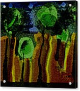 Night Forest Tapestry Acrylic Print