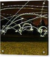 Night Frisbee Acrylic Print