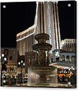 Night Glow At The Venetian Las Vegas Acrylic Print