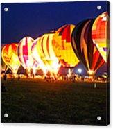 Night Glow Hot Air Balloons Acrylic Print