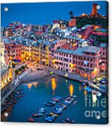 Night In Vernazza Acrylic Print by Inge Johnsson