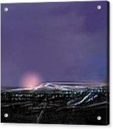Night Landing Approch Acrylic Print