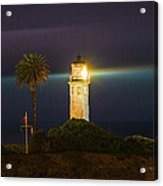 Night Lighthouse On The Bluff Acrylic Print